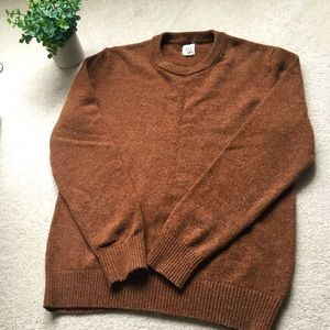 GAP Camel Crewneck Merino Wool Sweater